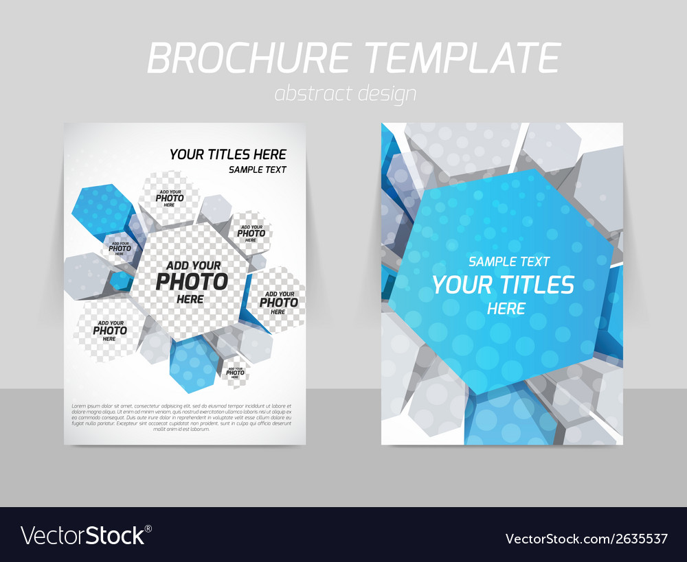 Hexagons flyer template vector | Price: 1 Credit (USD $1)