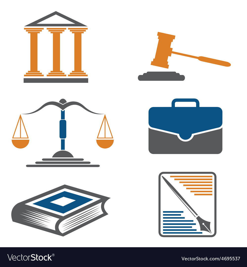 Justice and law icons vector | Price: 1 Credit (USD $1)