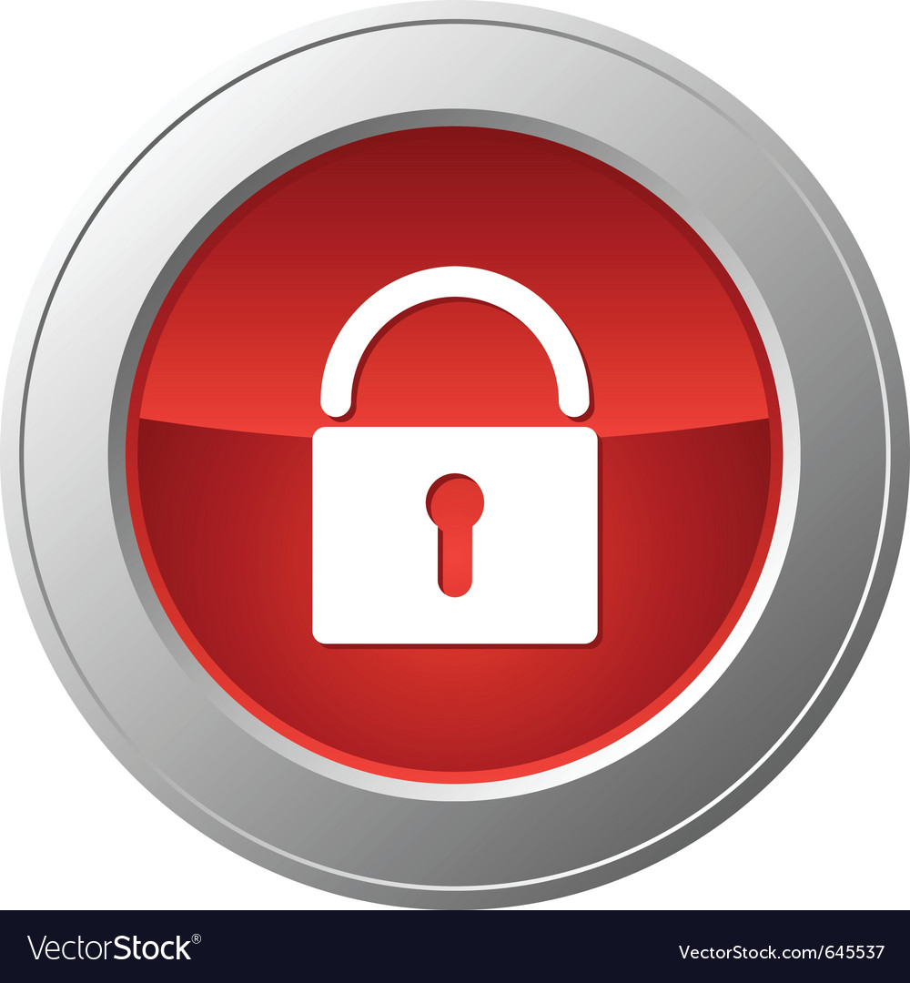 Lock button vector | Price: 1 Credit (USD $1)