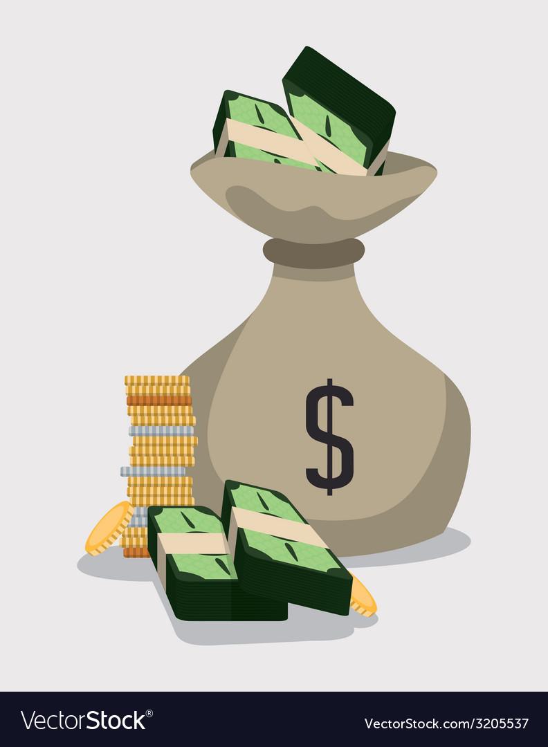 Money bag design vector | Price: 1 Credit (USD $1)