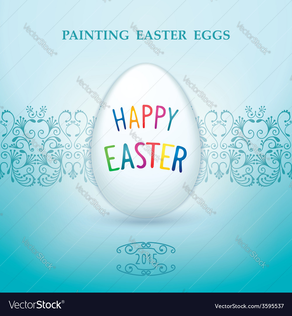 Painting easter eggs vector | Price: 1 Credit (USD $1)