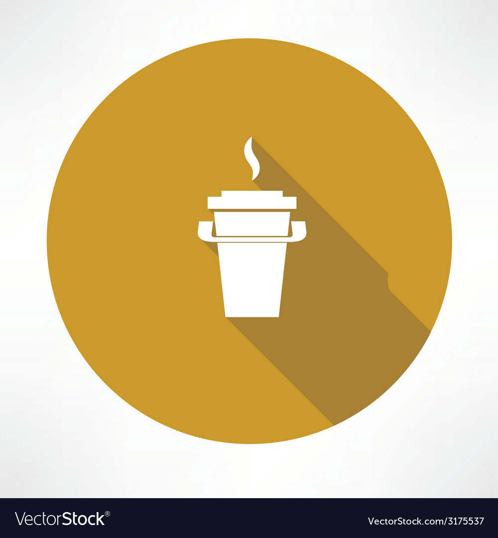 Paper coffee cup icon vector | Price: 1 Credit (USD $1)