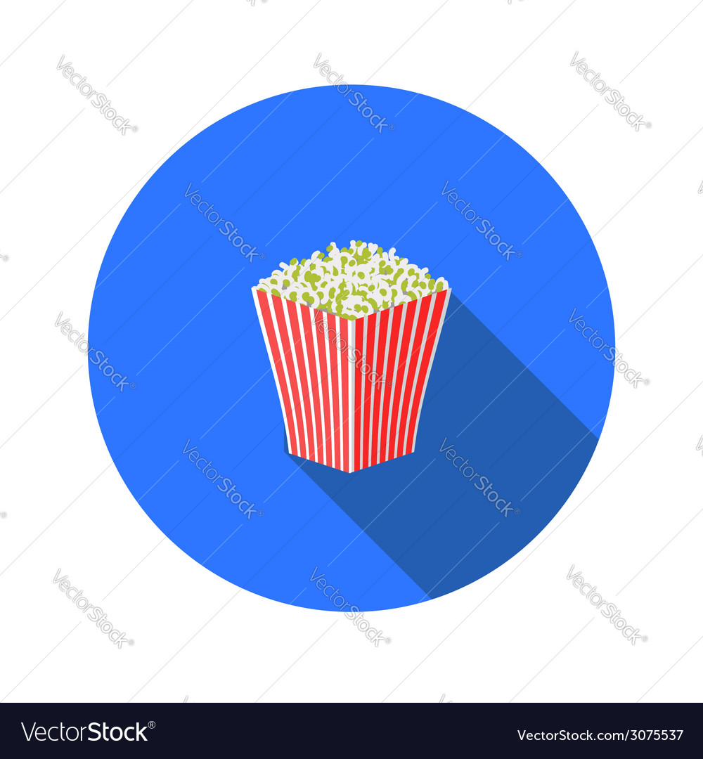 Popcorn flat icon vector | Price: 1 Credit (USD $1)