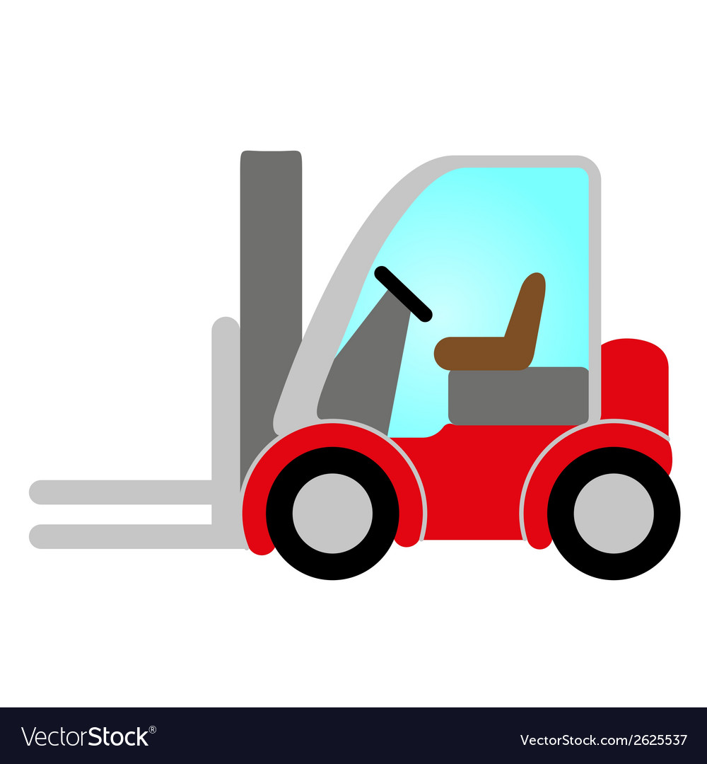 Red forklift truck vector | Price: 1 Credit (USD $1)