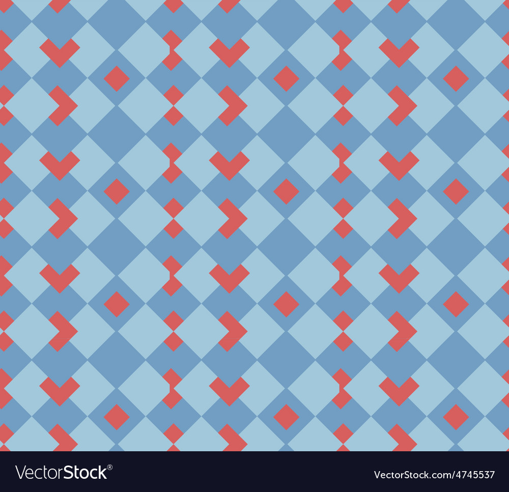 Red hearts seamless sell background vector | Price: 1 Credit (USD $1)