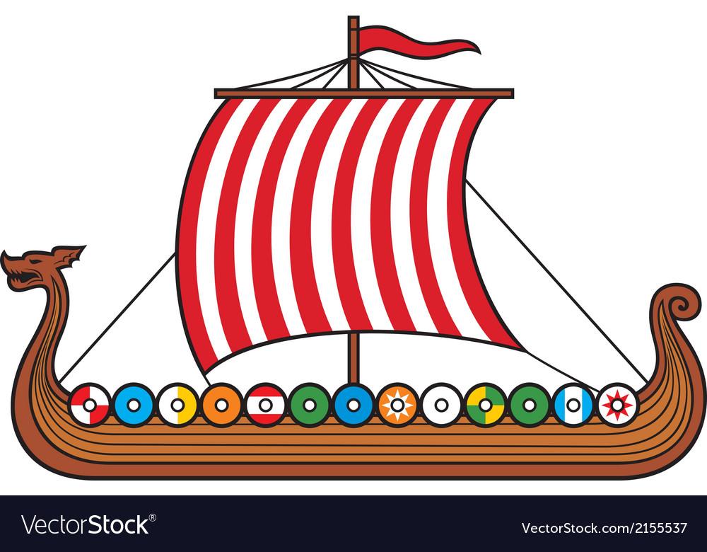 Viking ship vector | Price: 1 Credit (USD $1)