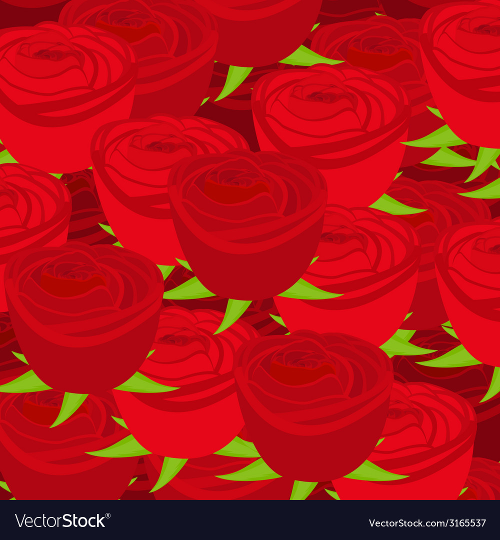 Wallpaper pattern with of red roses vector | Price: 1 Credit (USD $1)