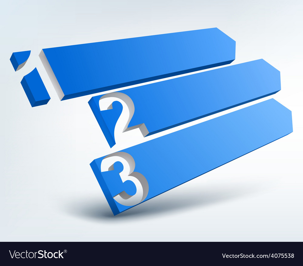 Abstract numbered banners with place for text vector | Price: 1 Credit (USD $1)