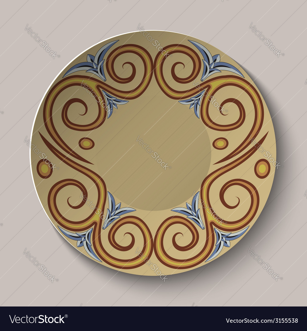 Background of dishes with a circular pattern in vector | Price: 1 Credit (USD $1)
