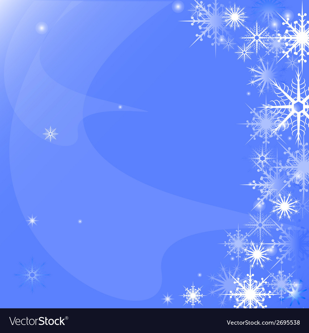 Background of snowflakes vector   Price: 1 Credit (USD $1)
