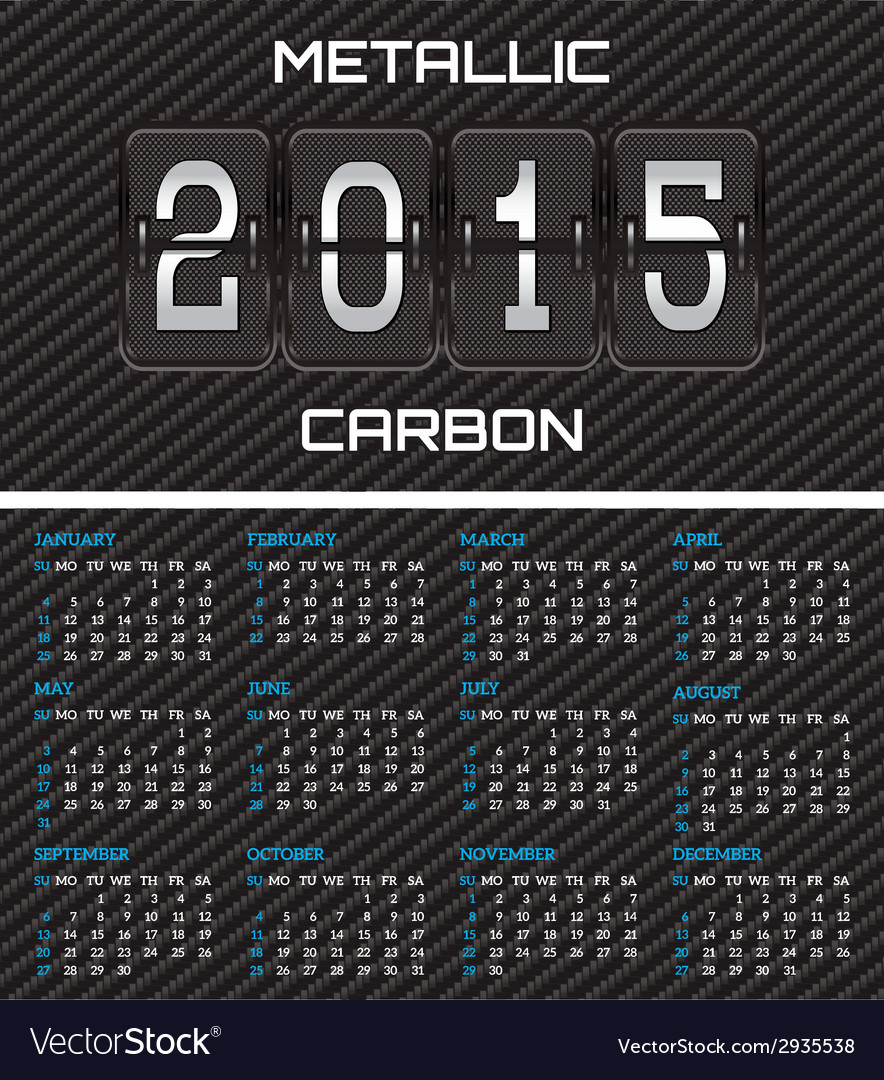 Bilateral business card with calendar and carbon vector | Price: 1 Credit (USD $1)