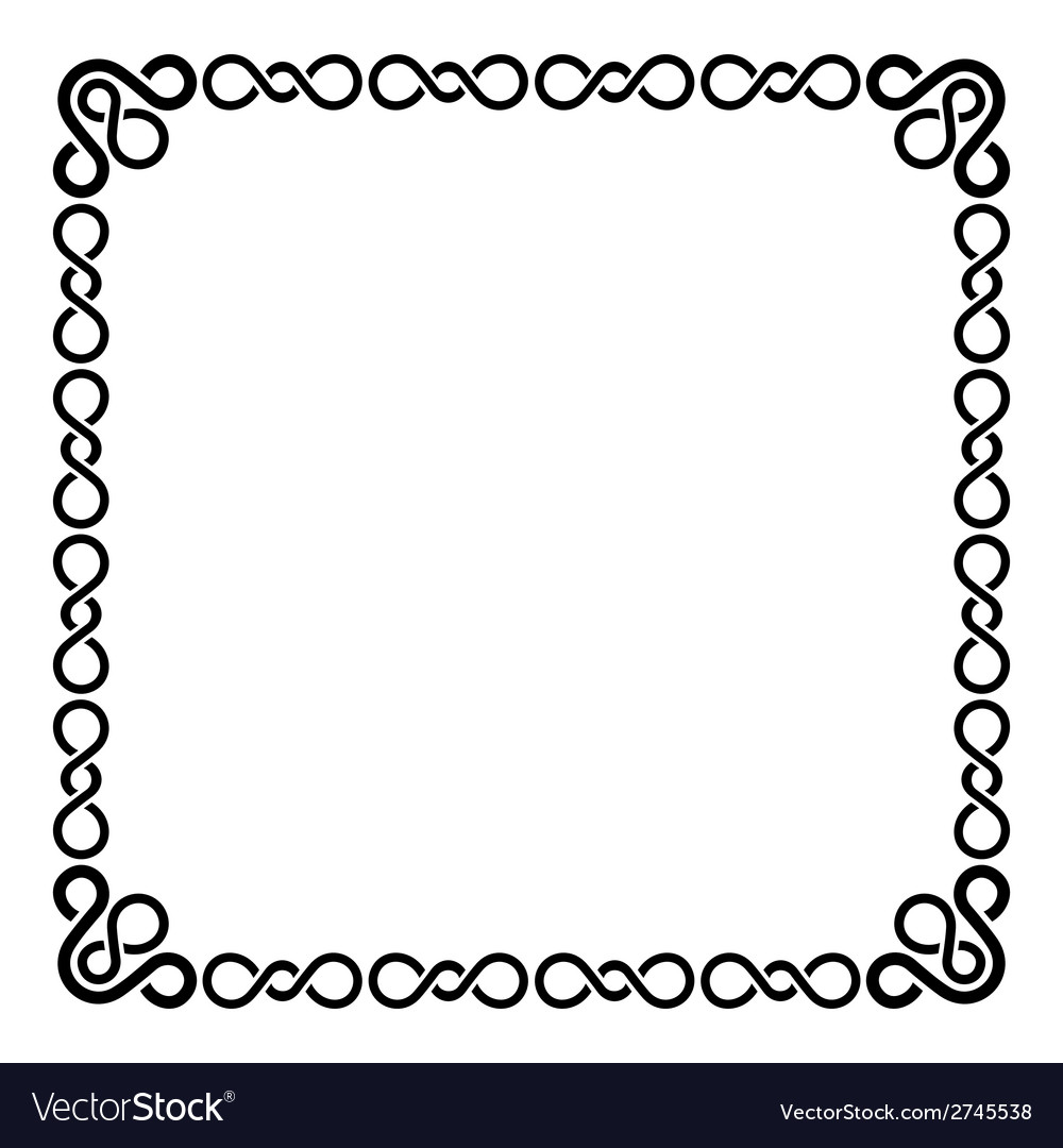 Calligraphic frame and page decoration curl border vector | Price: 1 Credit (USD $1)