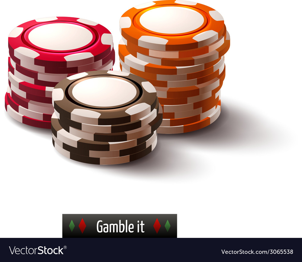 Casino chips isolated vector | Price: 1 Credit (USD $1)