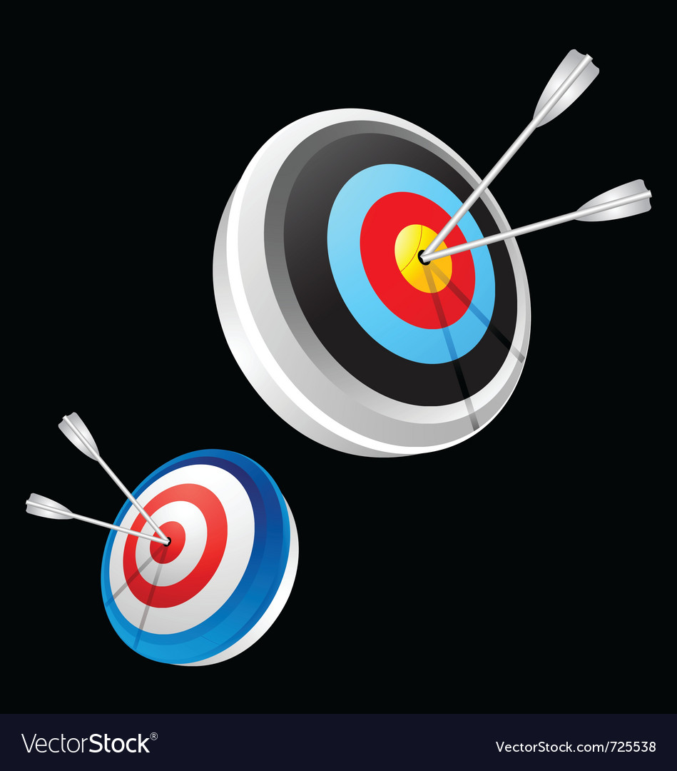 Dart hitting a target vector | Price: 1 Credit (USD $1)