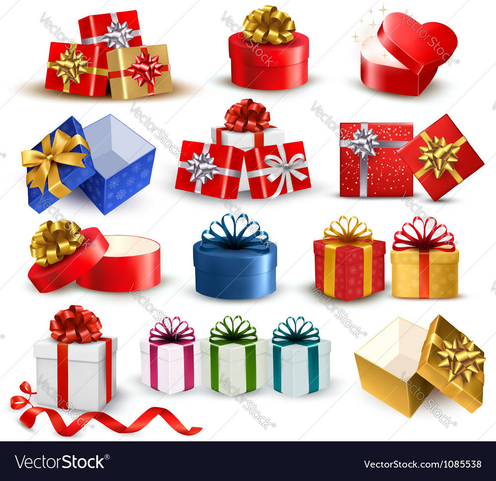 Gift boxes vector | Price: 3 Credit (USD $3)