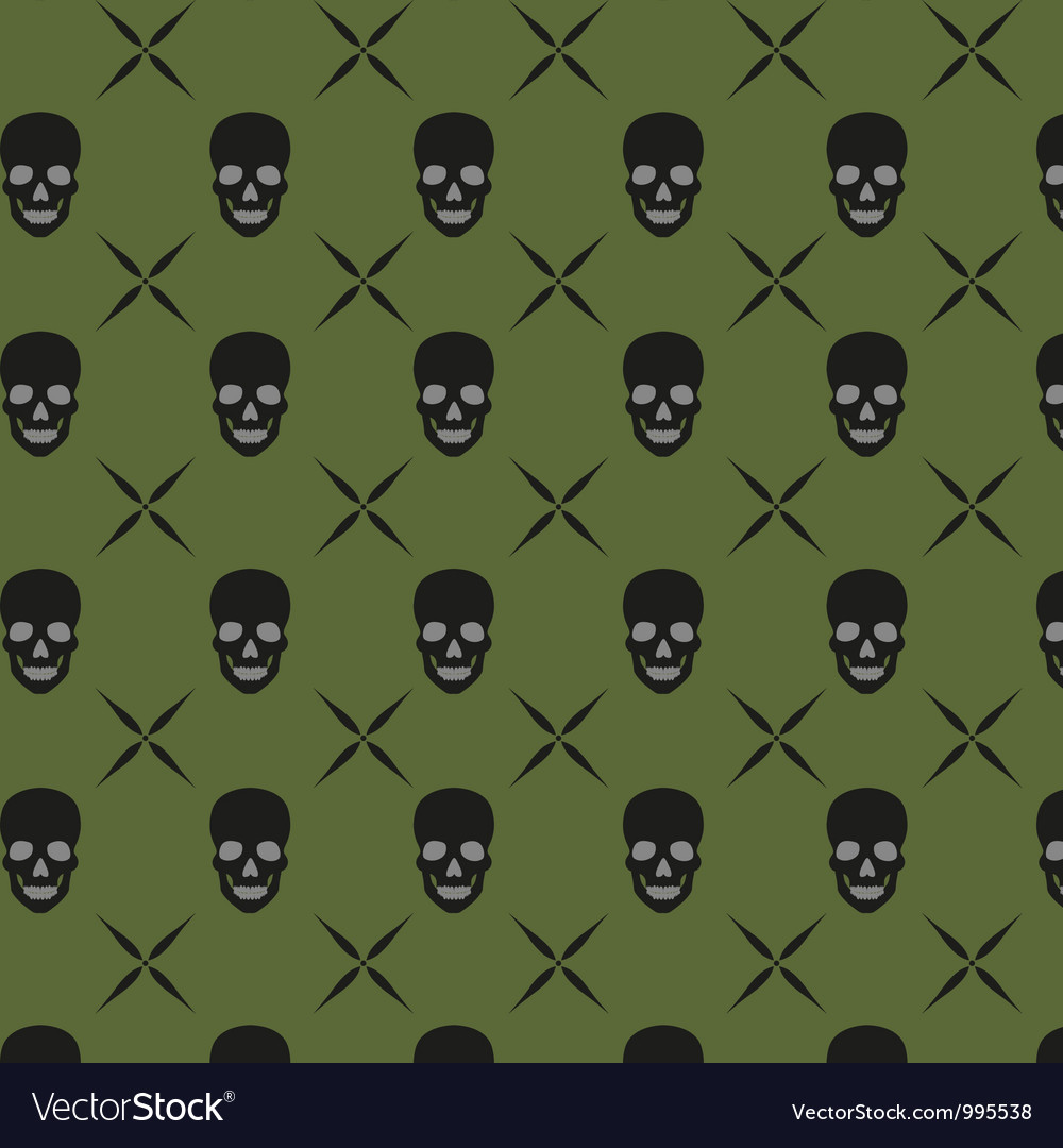 Green skull background vector | Price: 1 Credit (USD $1)