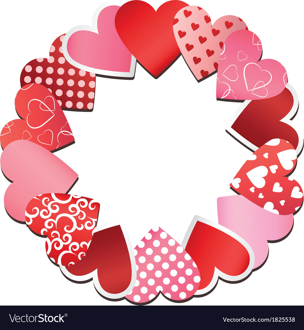 Paper heart frame vector | Price: 1 Credit (USD $1)