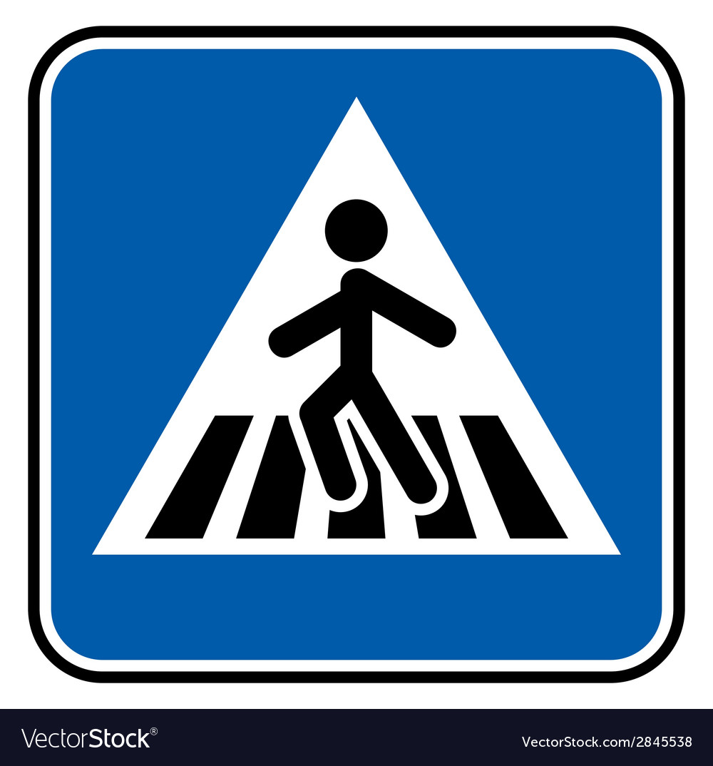 Pedestrian sign resize vector | Price: 1 Credit (USD $1)