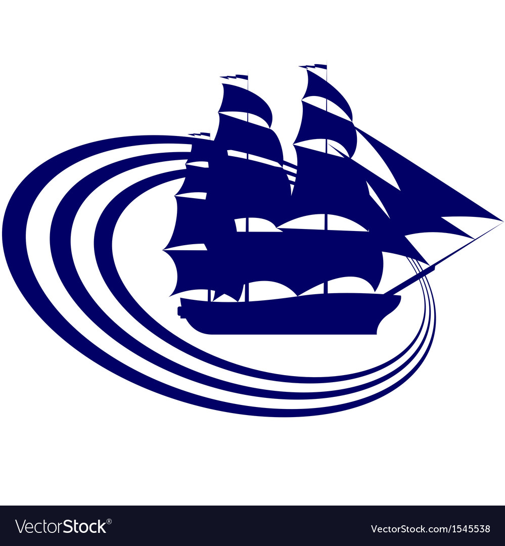Sailing ship-6 vector | Price: 1 Credit (USD $1)