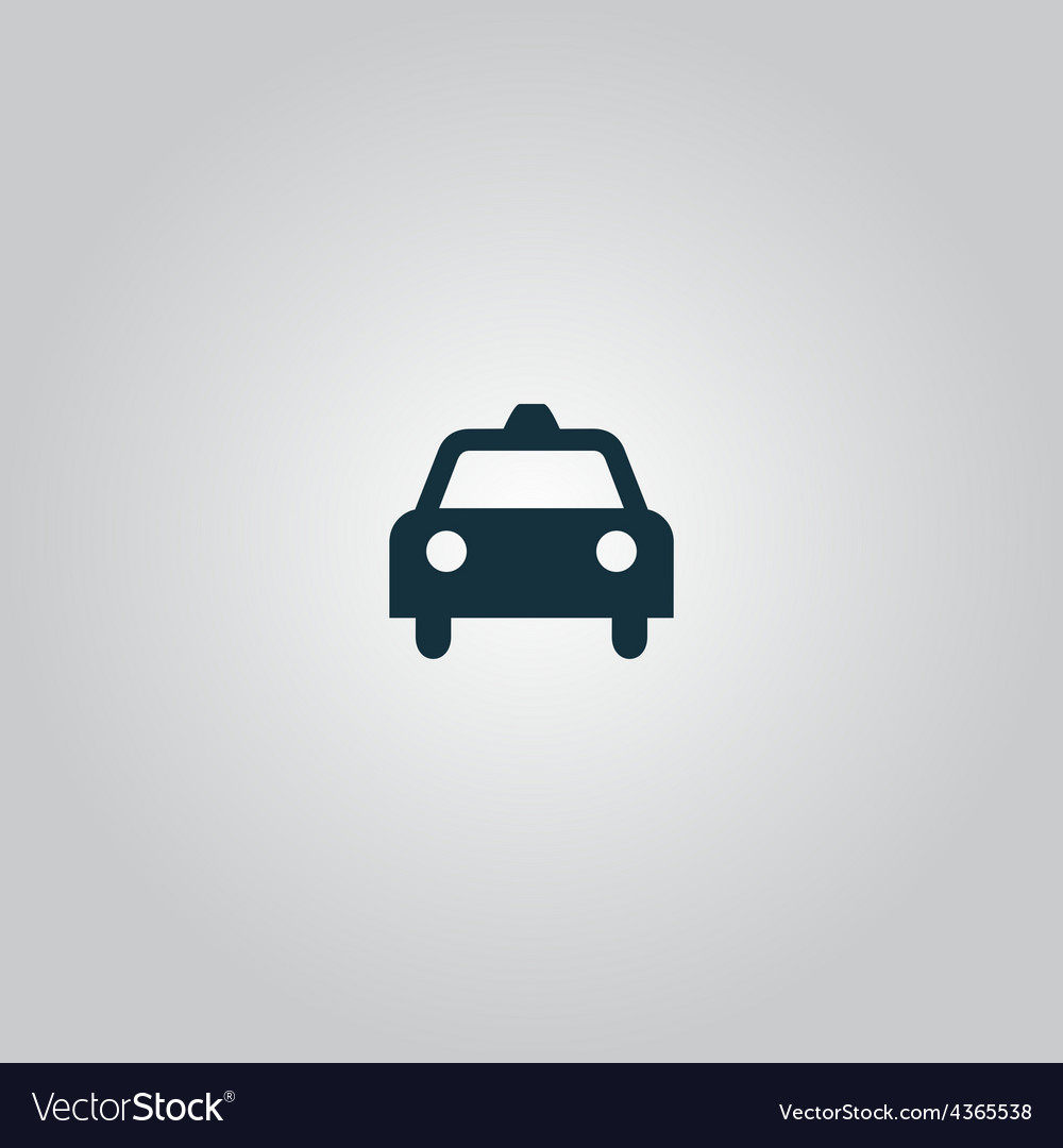 Taxi icon vector | Price: 1 Credit (USD $1)