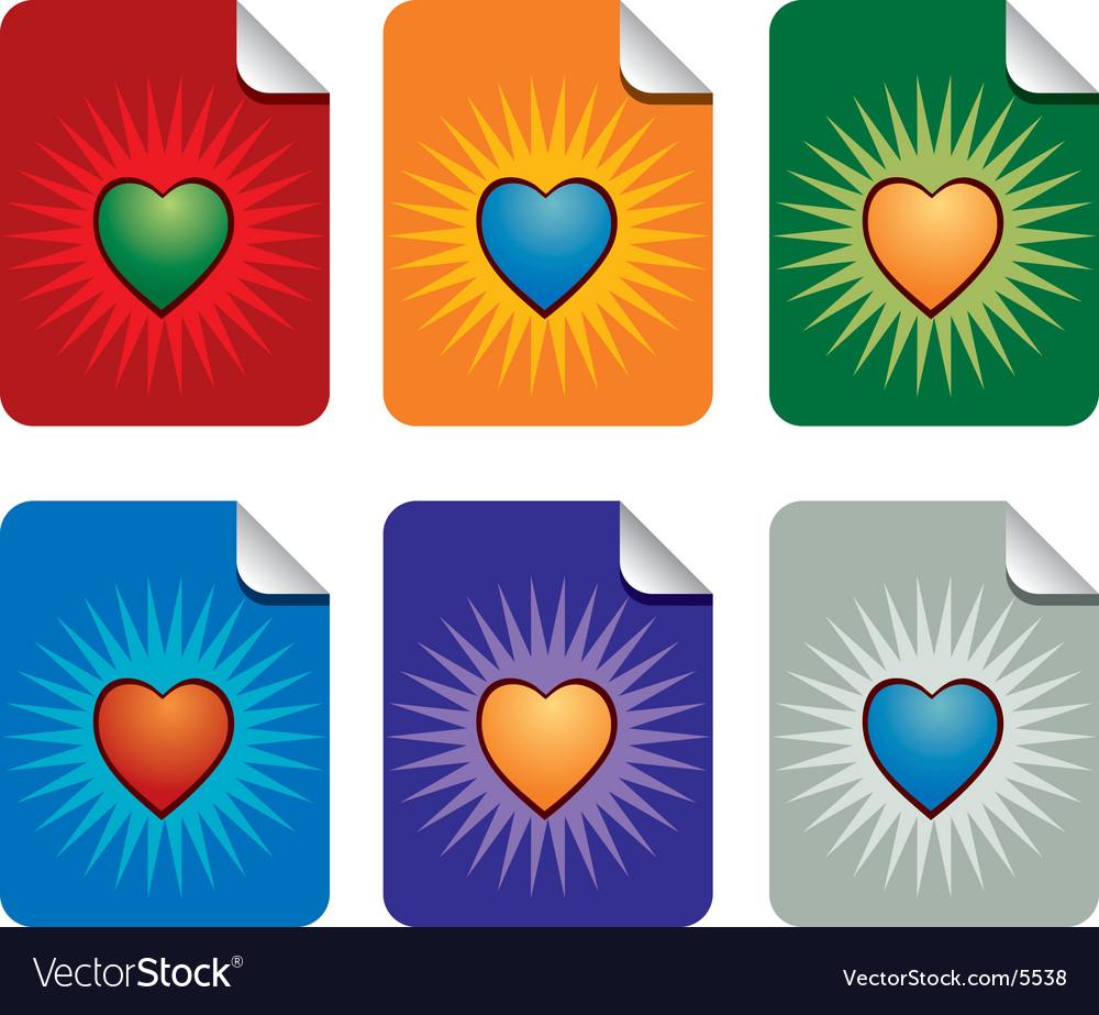 Valentine sticky notes vector | Price: 1 Credit (USD $1)