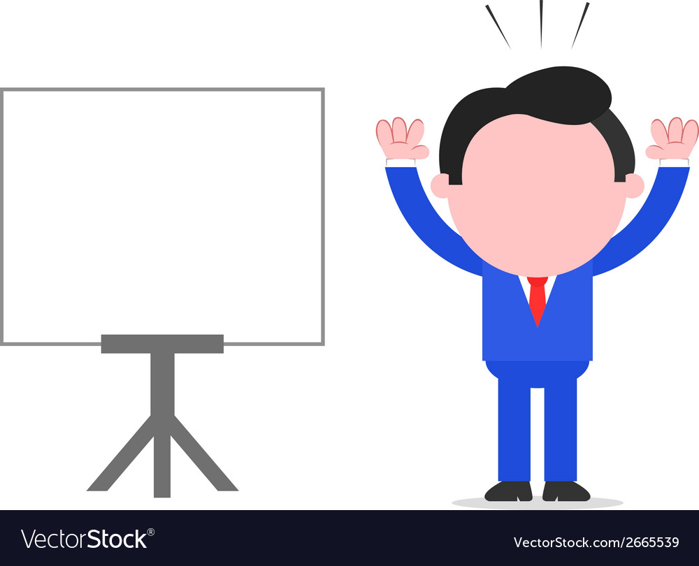 Businessman raising hands beside chart vector | Price: 1 Credit (USD $1)