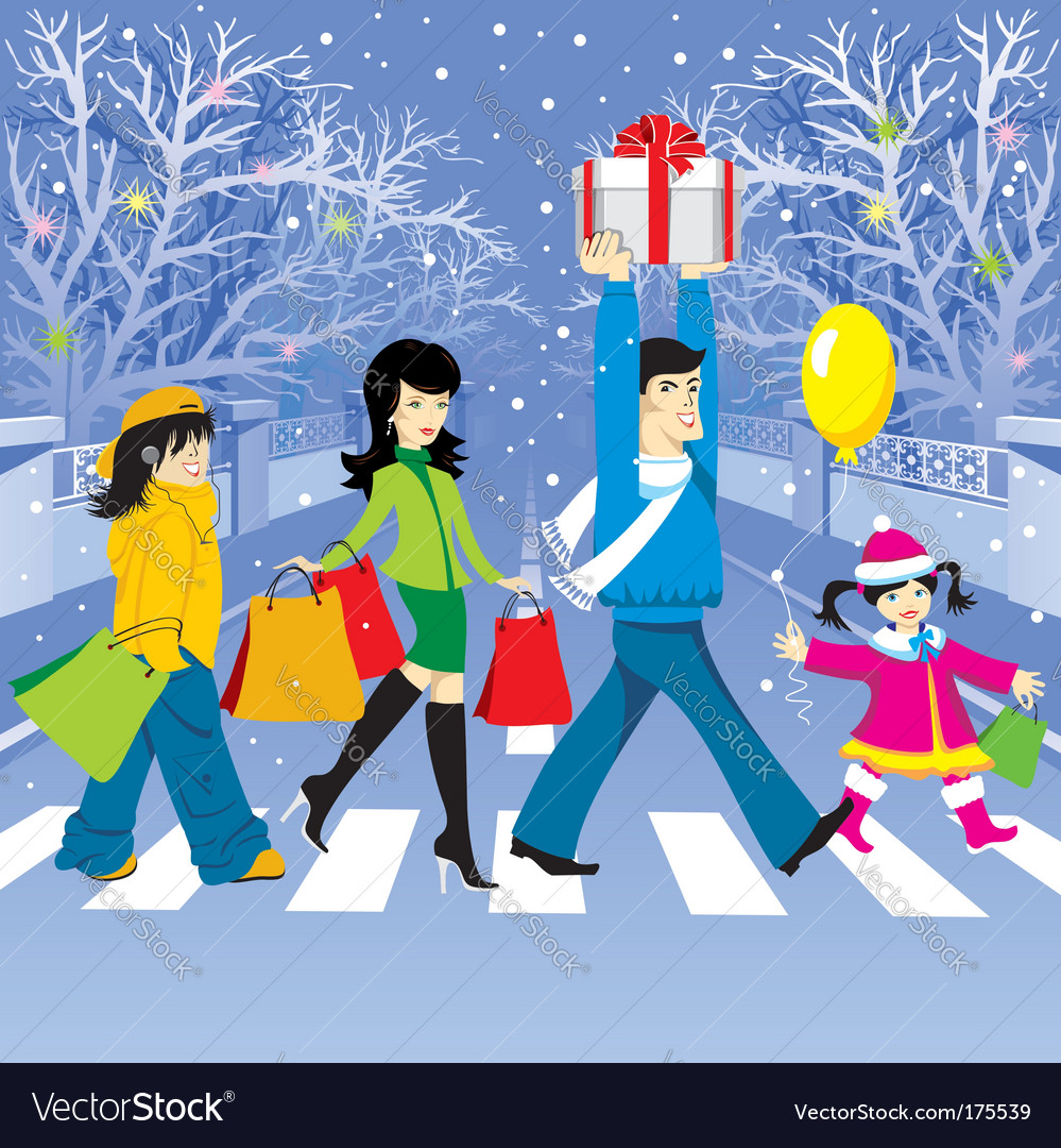 Christmas shopping vector   Price: 3 Credit (USD $3)
