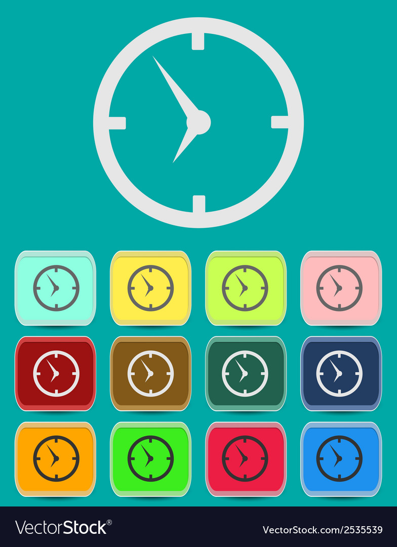 Clock face - icon isolated vector | Price: 1 Credit (USD $1)