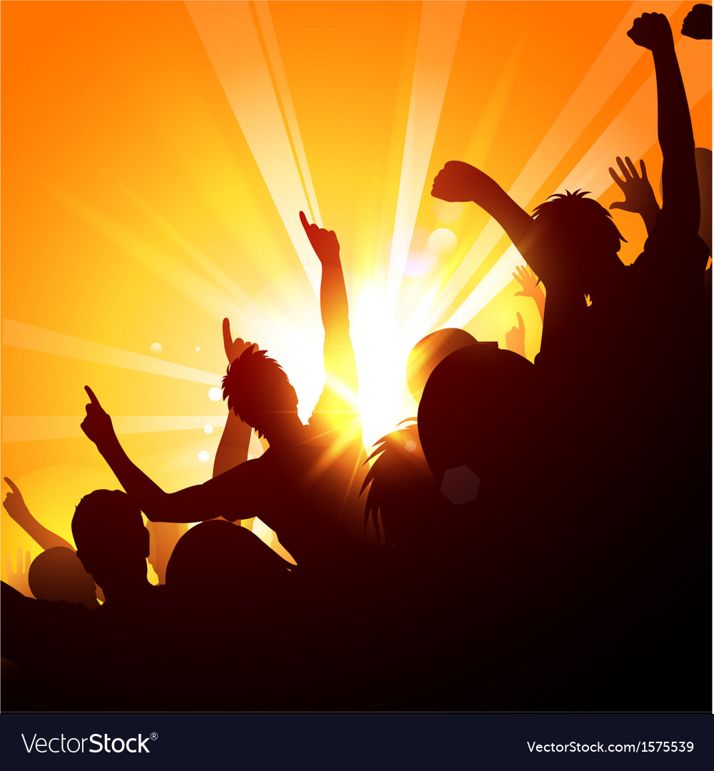 Crowd at a concert vector | Price: 1 Credit (USD $1)