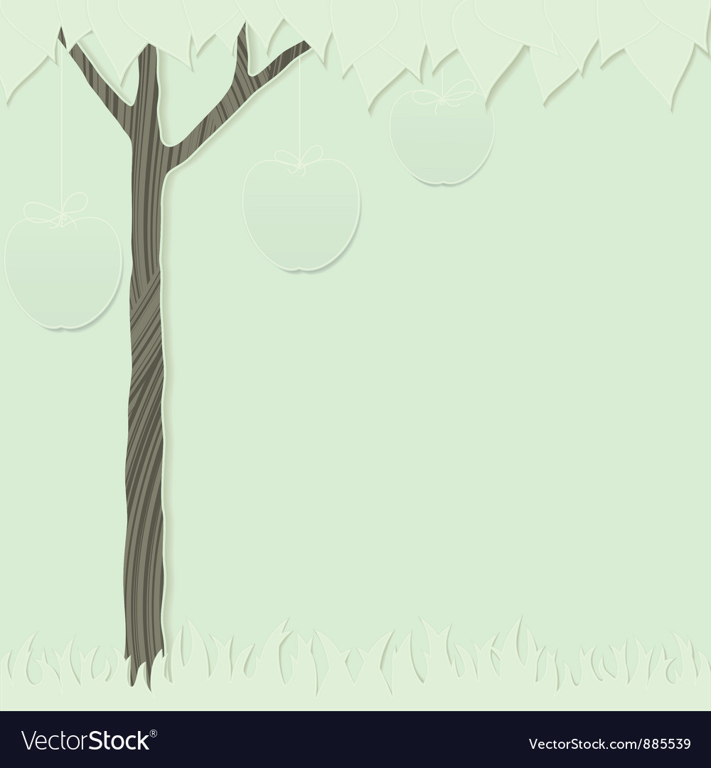 Cutout tree green 1 vector | Price: 1 Credit (USD $1)