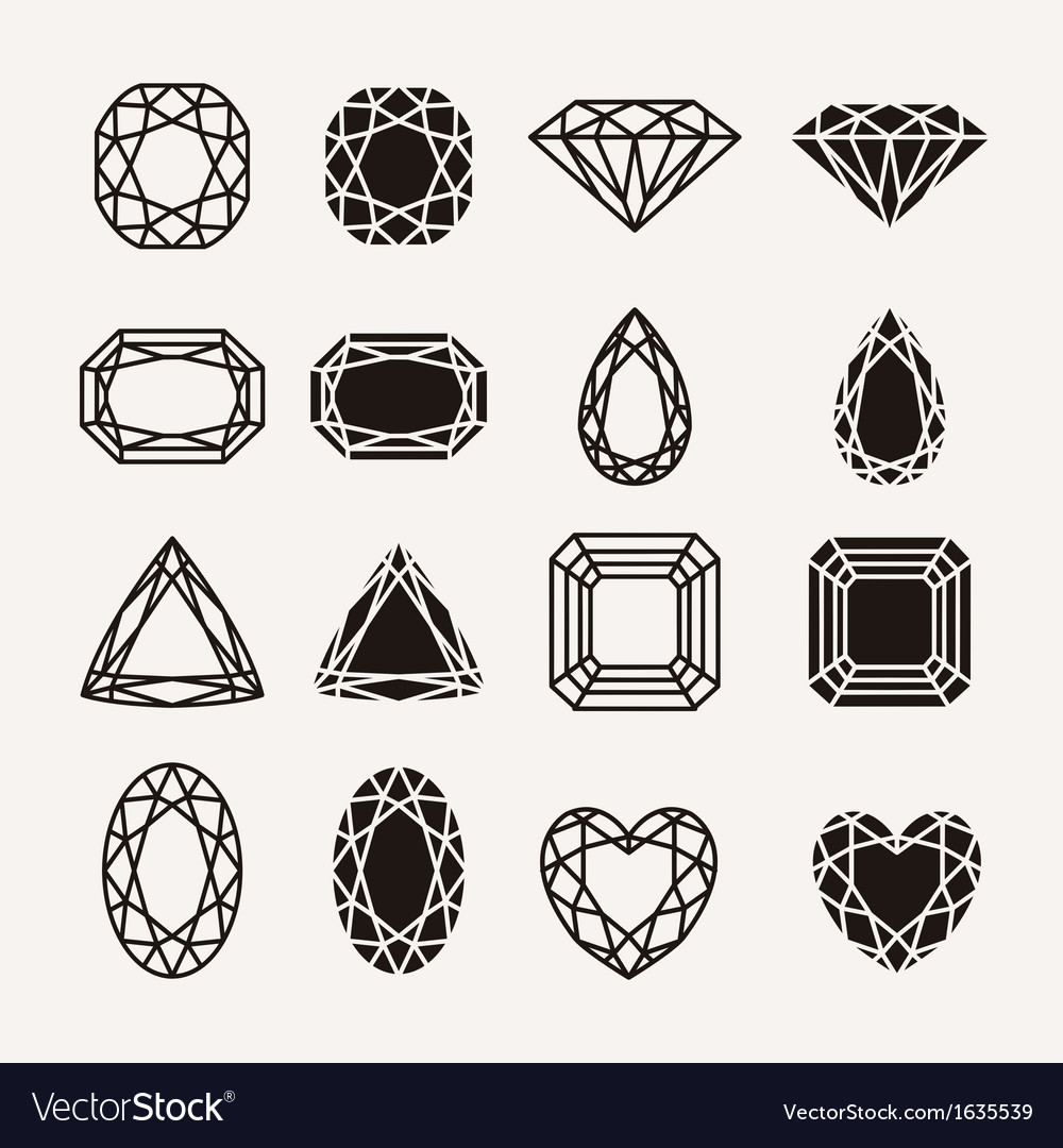 Diamond icons vector | Price: 1 Credit (USD $1)