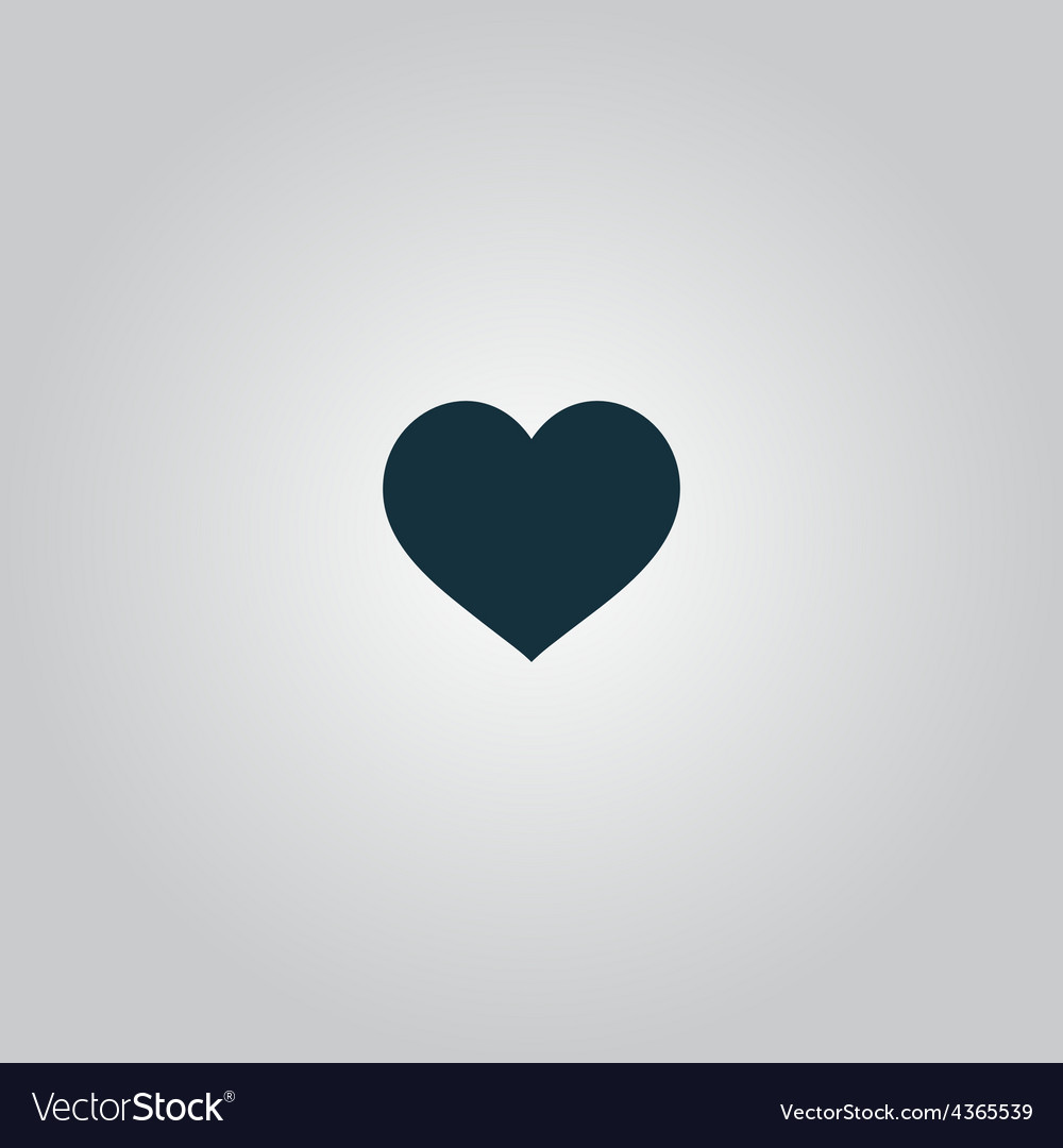 Flat heart icon vector   Price: 1 Credit (USD $1)