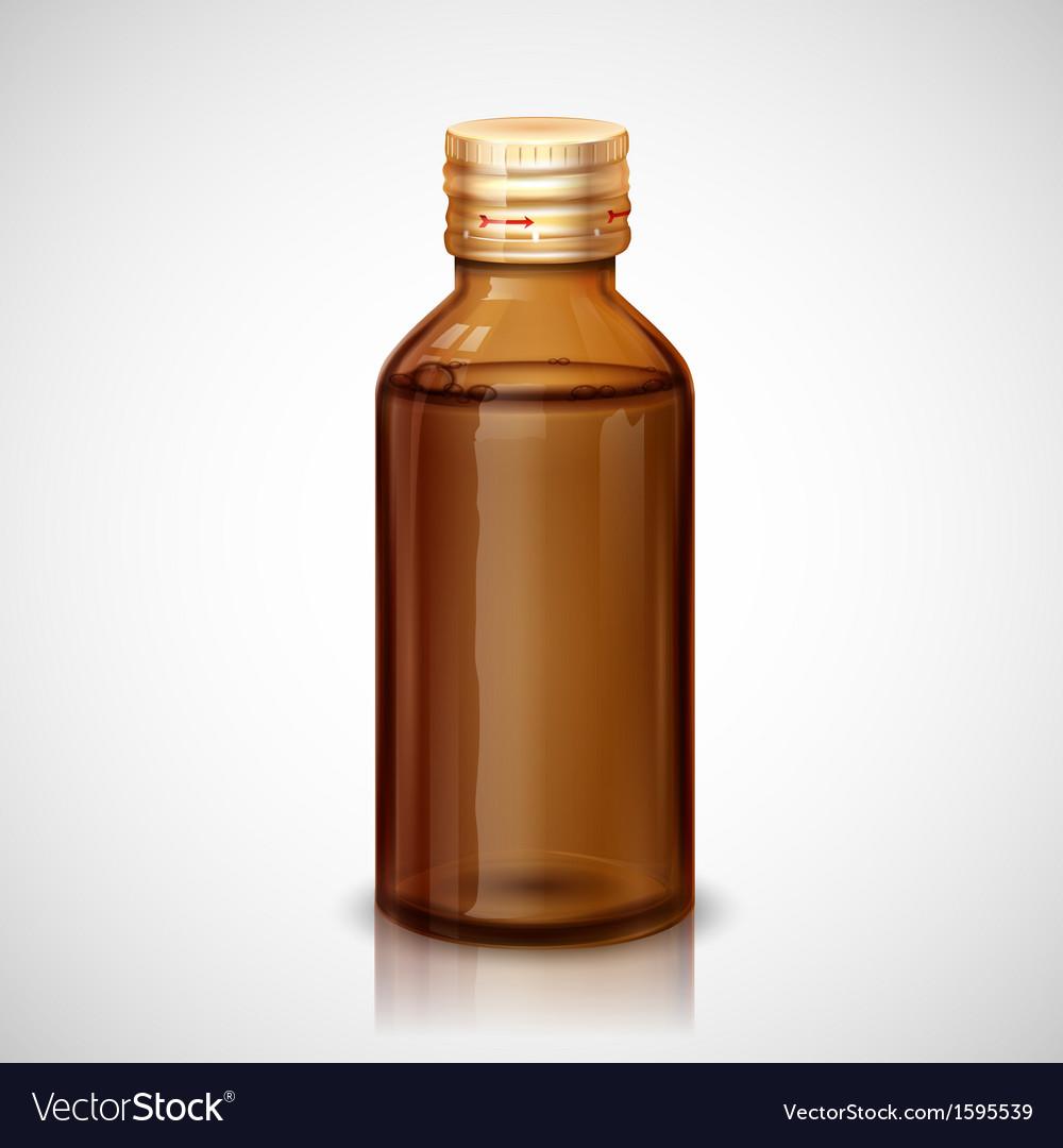 Medicine syrup bottle vector | Price: 1 Credit (USD $1)