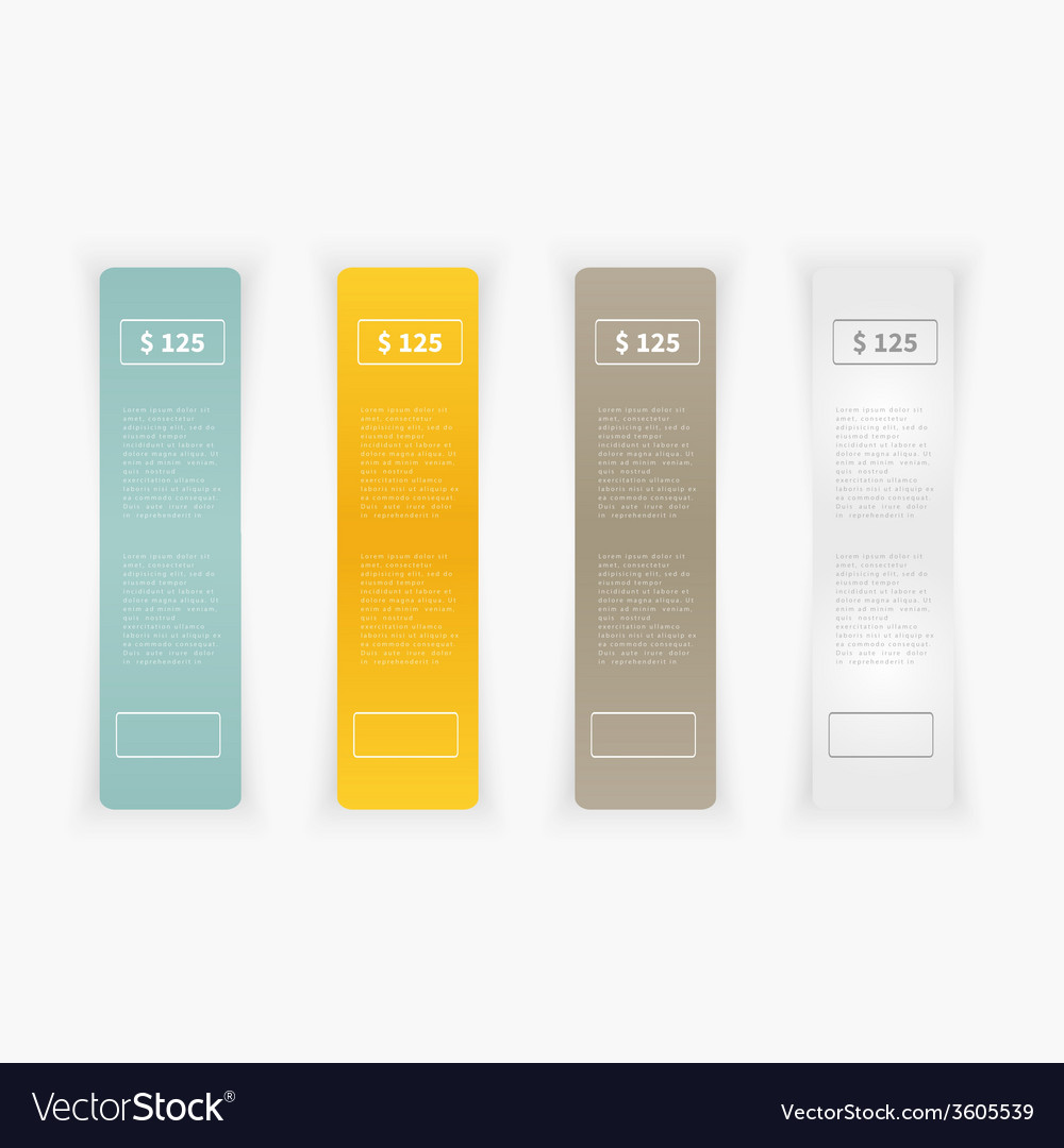 Set of blank rectangle labels vector | Price: 1 Credit (USD $1)