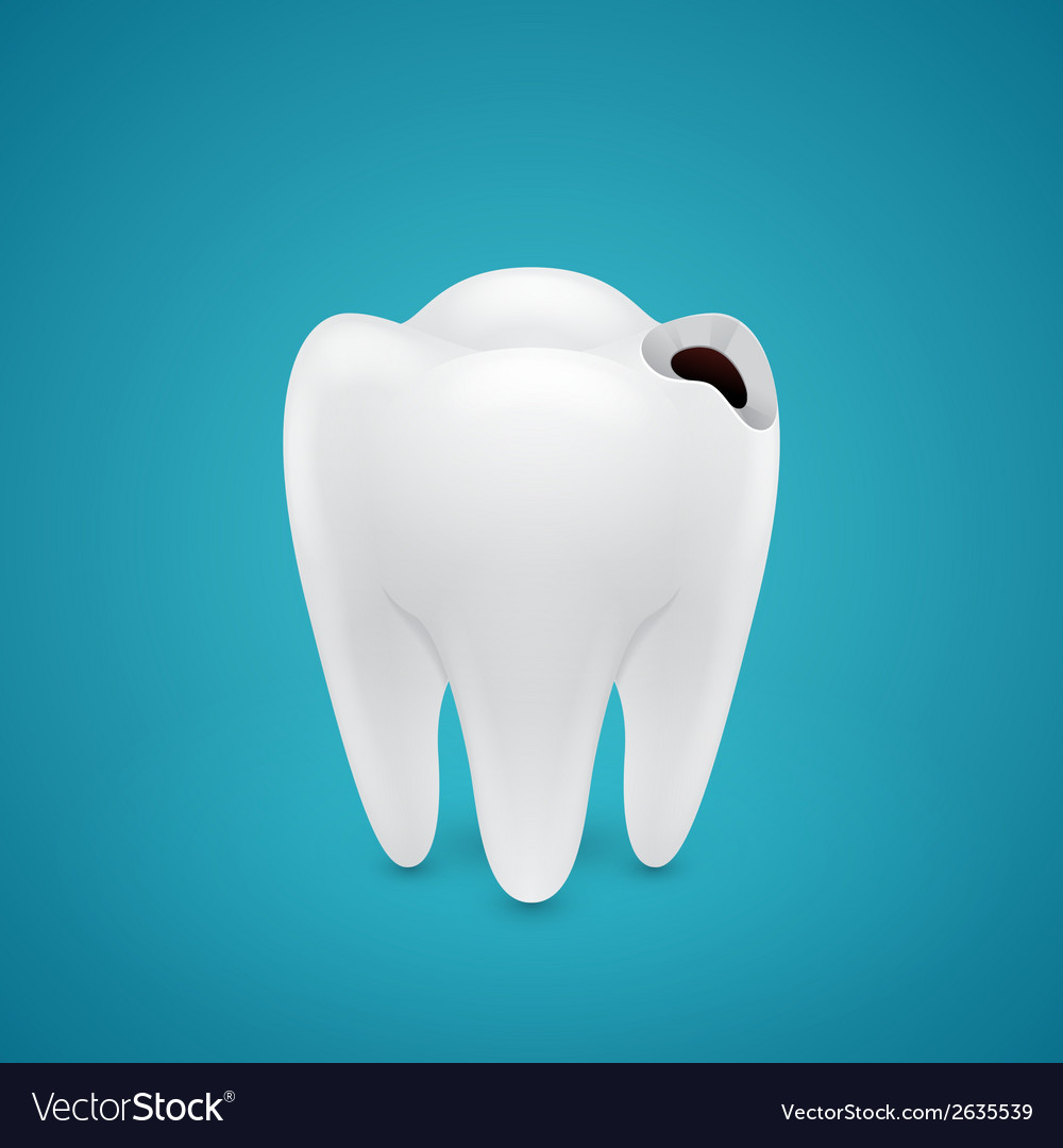 Start teeth caries vector | Price: 1 Credit (USD $1)