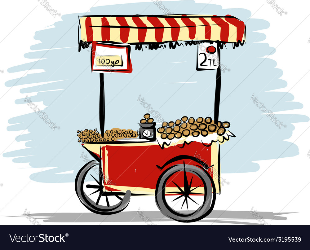 Street food cart for your design vector | Price: 1 Credit (USD $1)