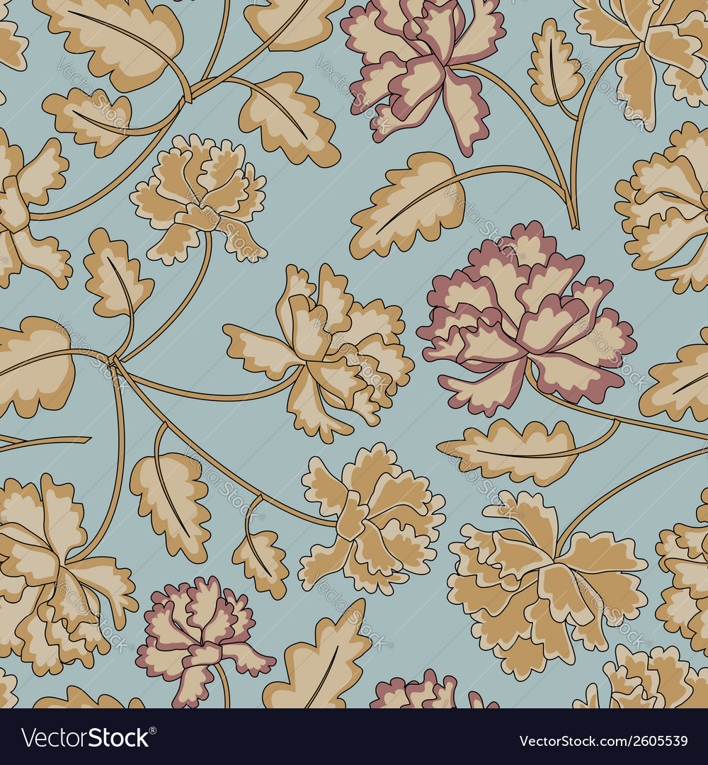Vintage peony flowers vector | Price: 1 Credit (USD $1)