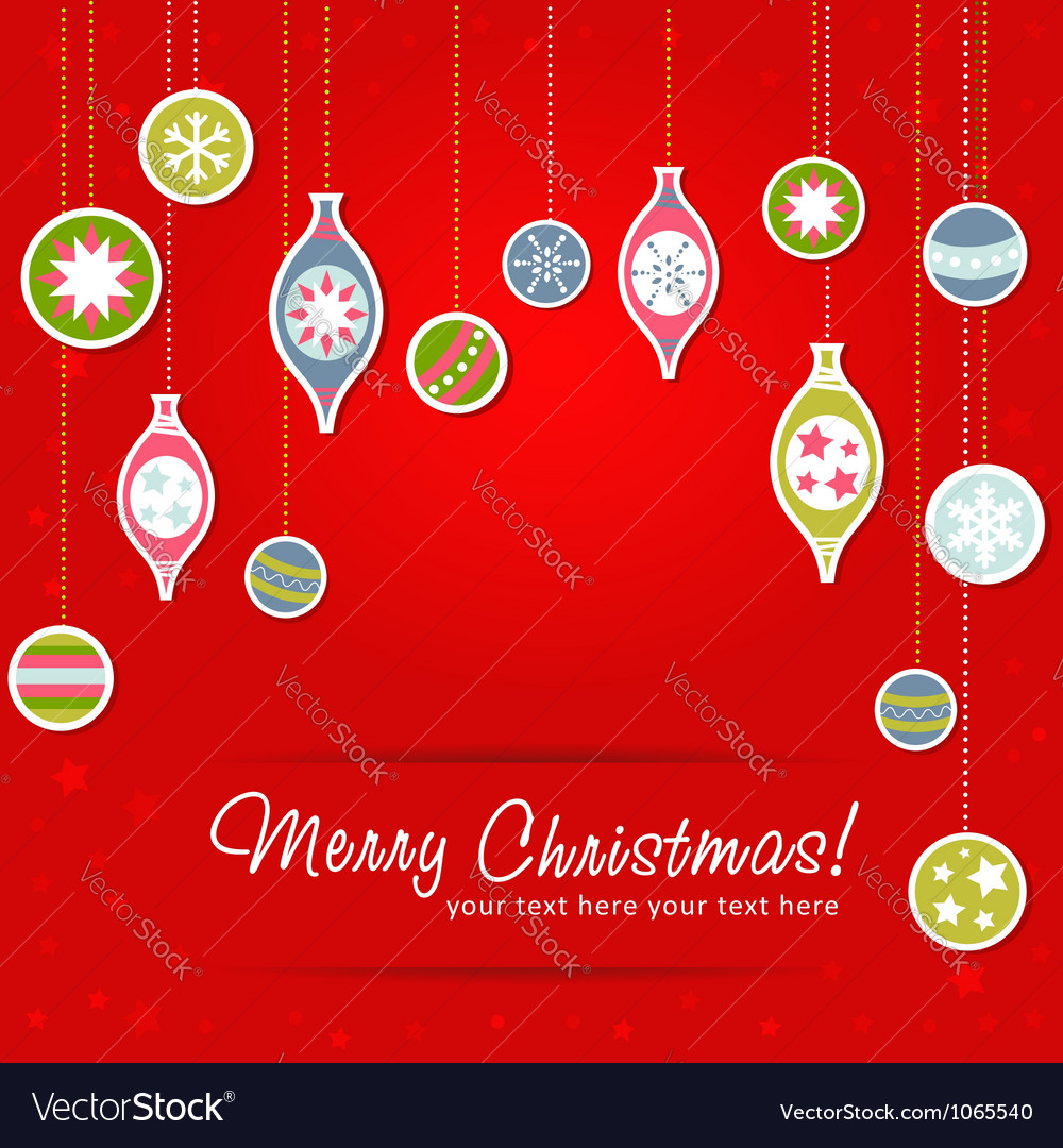 Beautiful design christmas greeting card with xmas vector | Price: 1 Credit (USD $1)