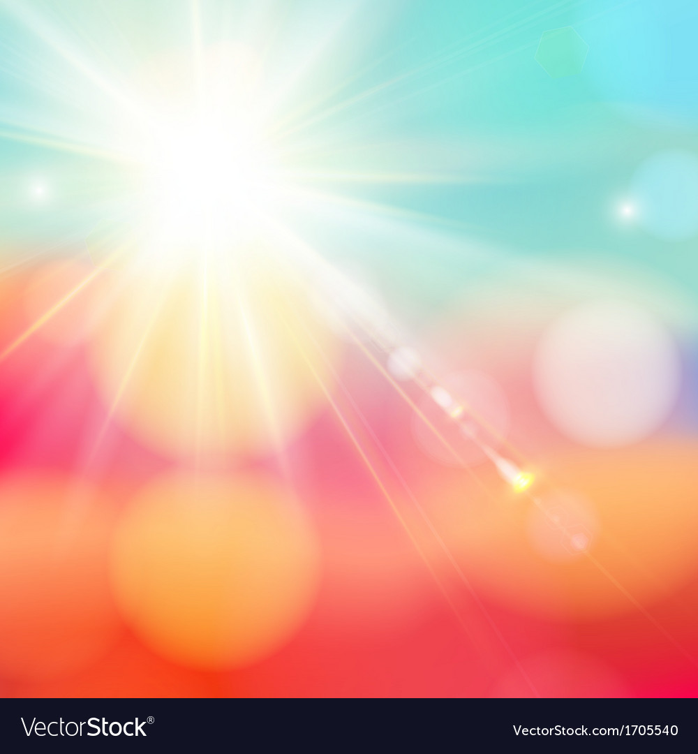 Bright shining sun with lens flare vector | Price: 1 Credit (USD $1)