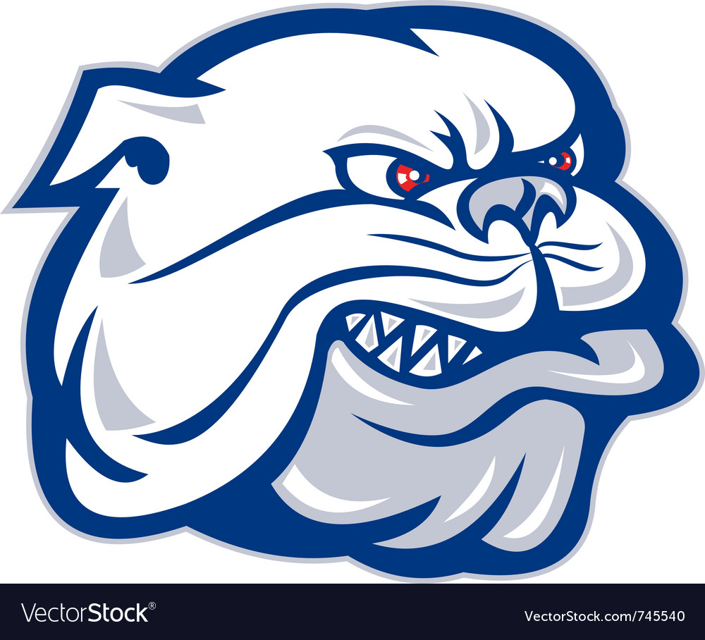 Bulldog dog head vector | Price: 1 Credit (USD $1)