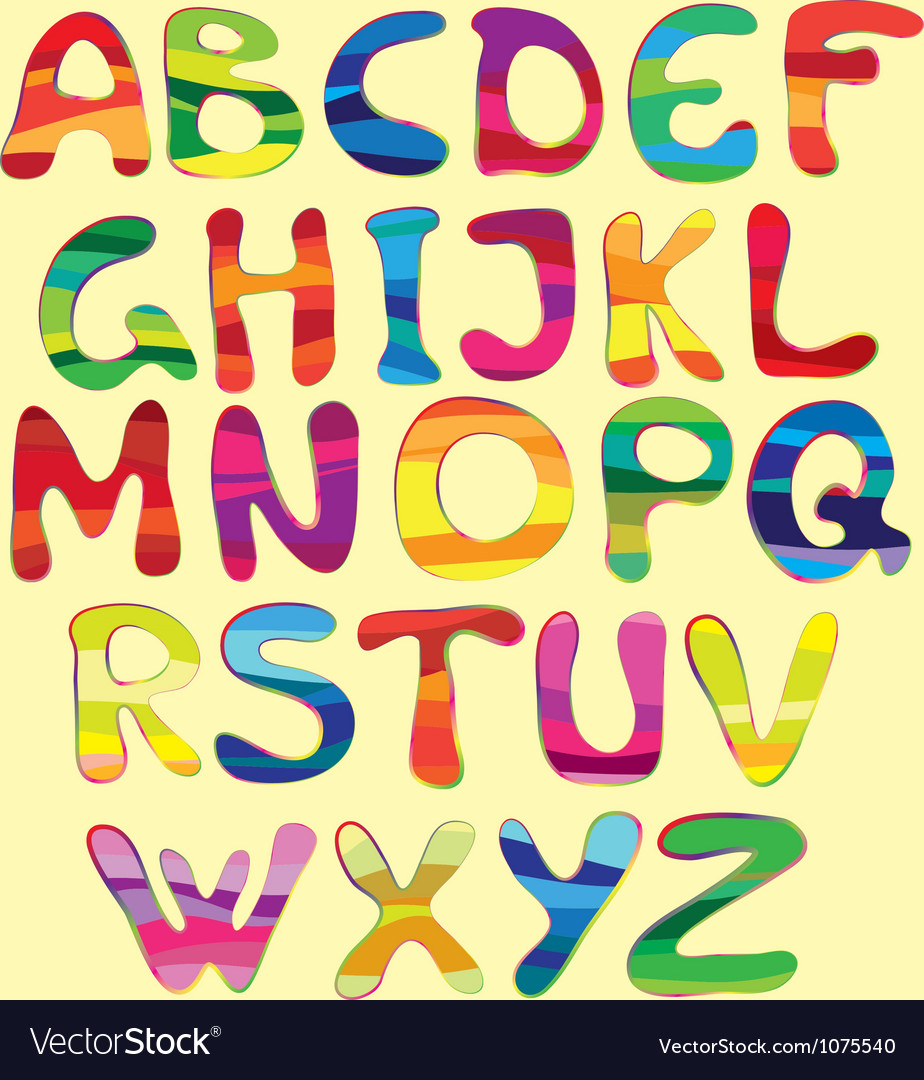 Cheerful alphabet vector   Price: 1 Credit (USD $1)