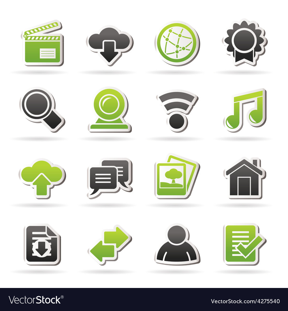 Internet and website icons vector | Price: 1 Credit (USD $1)