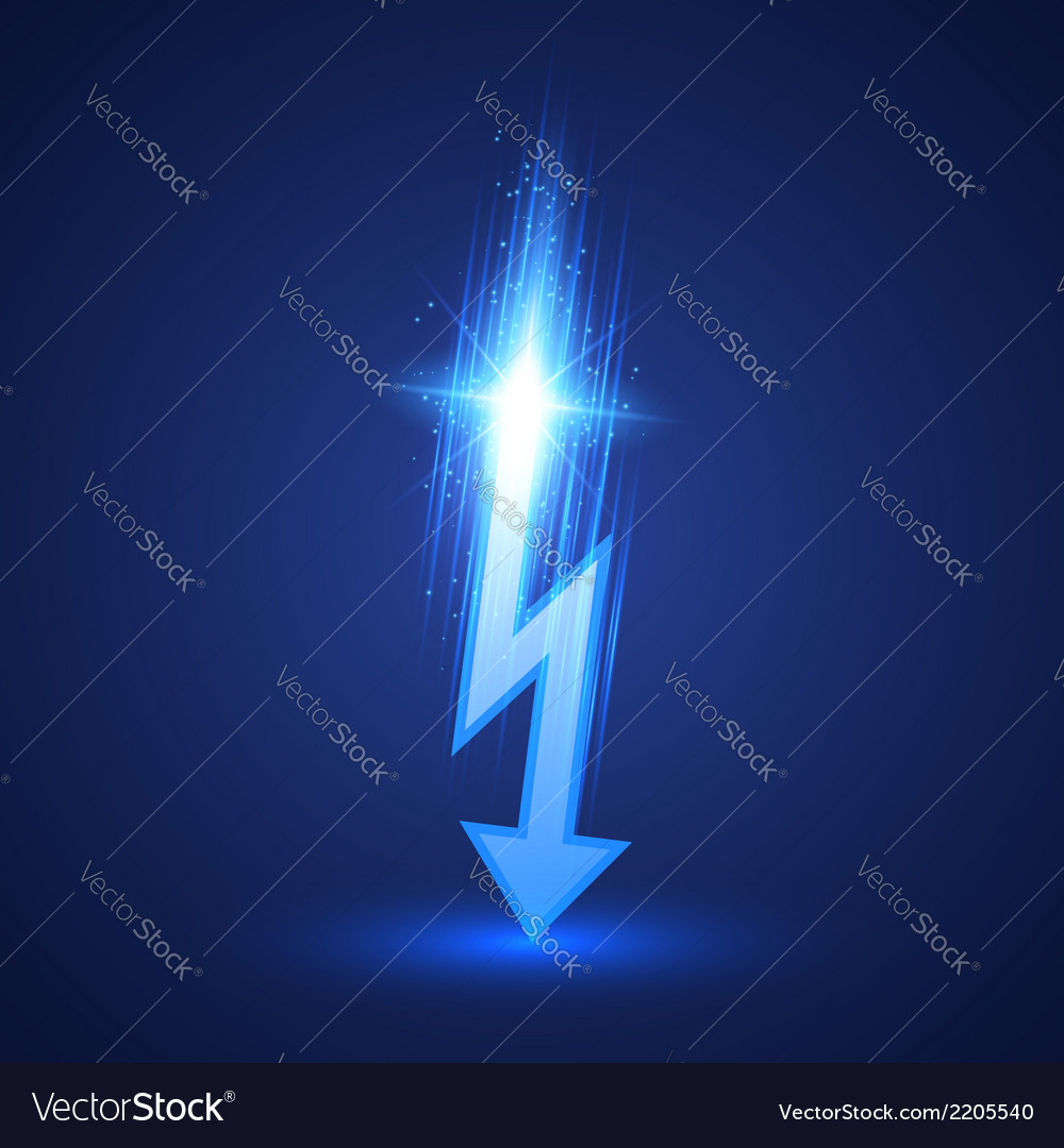 Lightning bolt vector | Price: 1 Credit (USD $1)