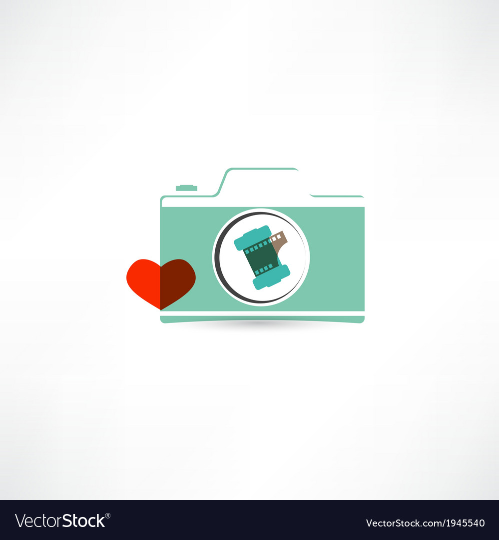 Love photography icon vector | Price: 1 Credit (USD $1)