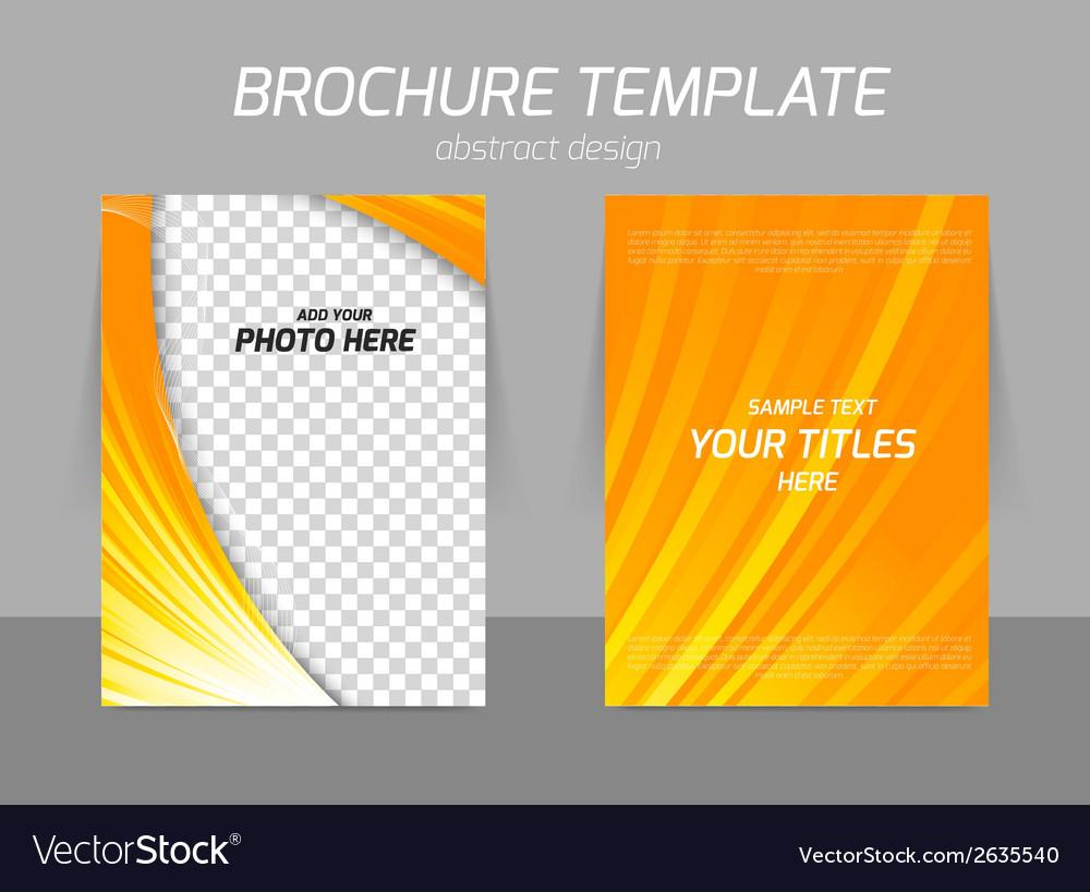 Orange flyer template vector | Price: 1 Credit (USD $1)