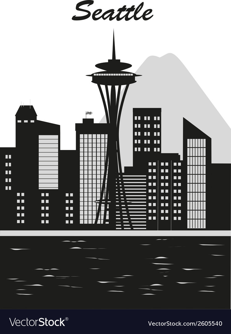 Seattle city vector | Price: 1 Credit (USD $1)