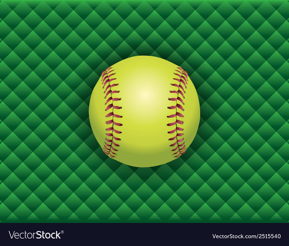 Softball checkered background vector | Price: 1 Credit (USD $1)