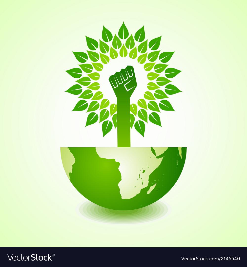 Unity hand make tree on earth vector   Price: 1 Credit (USD $1)