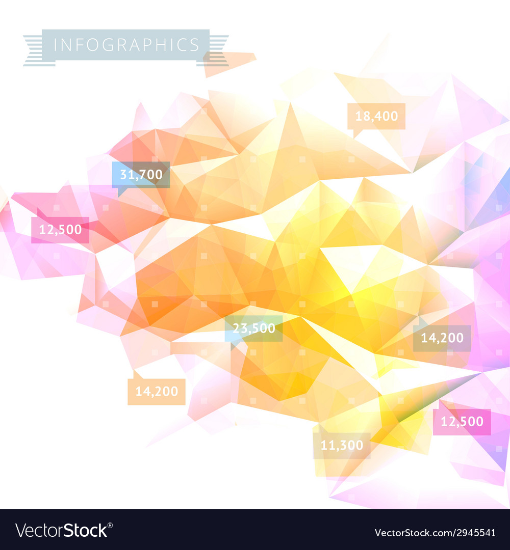 Background low poly infographics vector | Price: 1 Credit (USD $1)