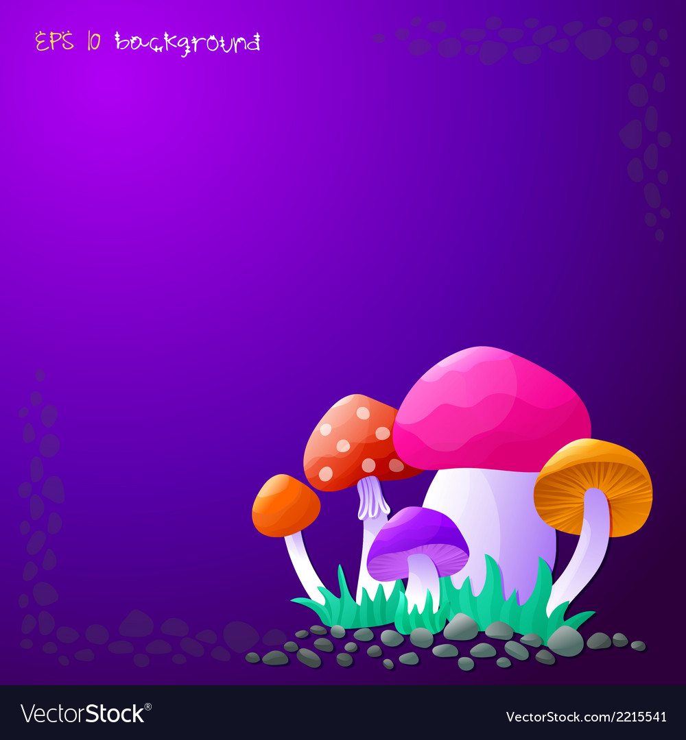 Background with mushrooms vector | Price: 1 Credit (USD $1)